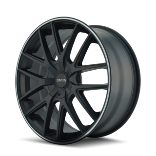 20x8.5//5x114.3mm Touren TR60 3260 Wheel with Black Finish with Red Ring